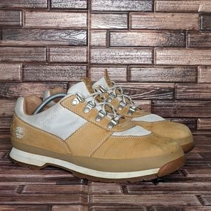 Timberland White and Tan Lowcut Boot - Men's 11